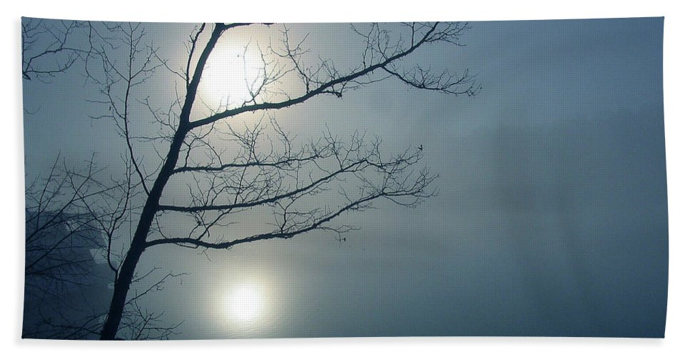 Tree Beach Towel featuring the photograph Moody Blue by Douglas Stucky