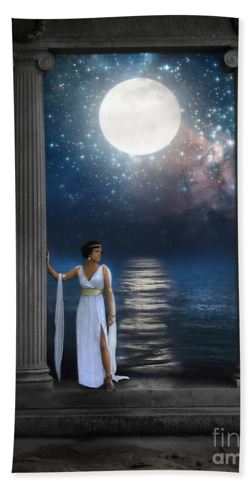 Moon Beach Towel featuring the photograph Moon Goddess by Jill Battaglia