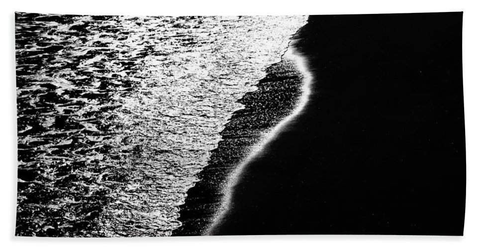 Abstract Beach Towel featuring the photograph Moon Light Rhapsody by Bob Orsillo