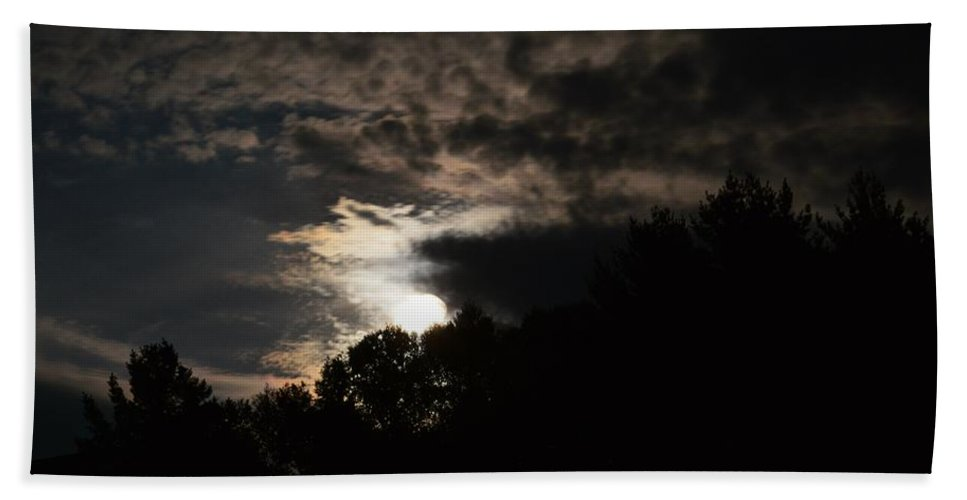 Full Moon Beach Towel featuring the photograph Moon Light by Thomas Phillips