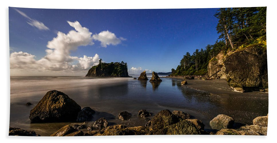 Moonlit Ruby Beach Towel featuring the photograph Moonlit Ruby by Chad Dutson
