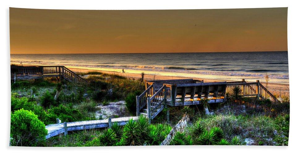 Seascape Beach Towel featuring the photograph Morning Beach by Aaron Shortt