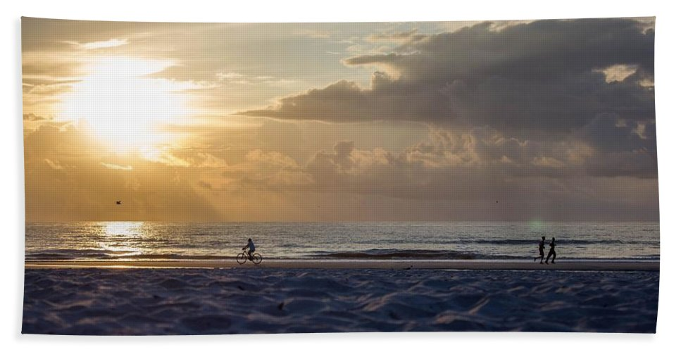 Beach Beach Towel featuring the photograph Morning Exercise by Tyson Kinnison
