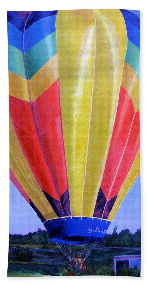 Acrylic Beach Towel featuring the painting Morning Flight by Lynne Reichhart