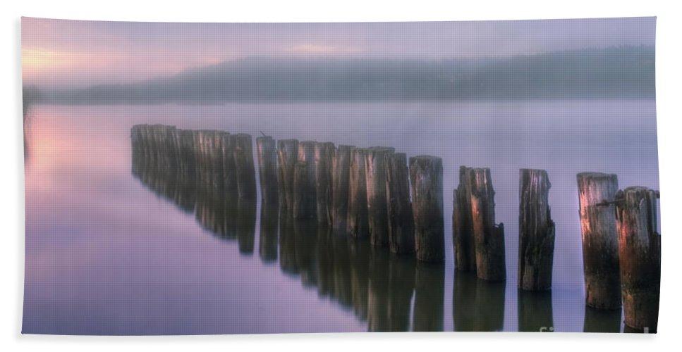 Art Beach Towel featuring the photograph Morning Fog by Veikko Suikkanen