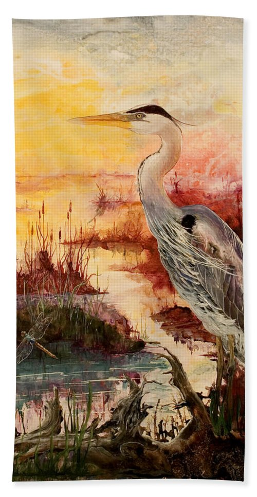Sunrise Beach Towel featuring the painting Morning Has Broken by Sherry Shipley