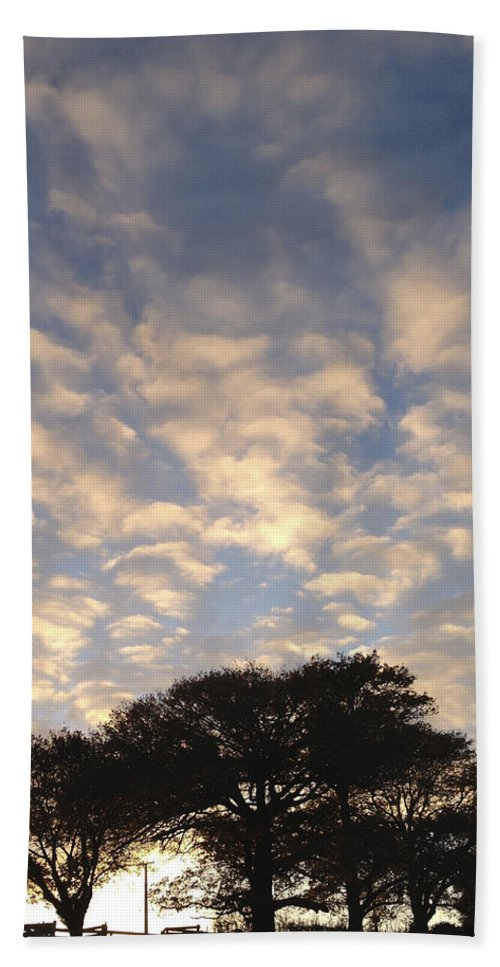 Beautiful Beach Towel featuring the photograph Morning Sky by Les Cunliffe