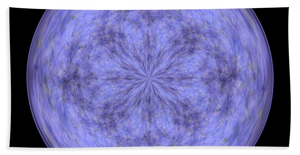 Wall Art Beach Towel featuring the digital art Morphed Art Globe 30 by Rhonda Barrett