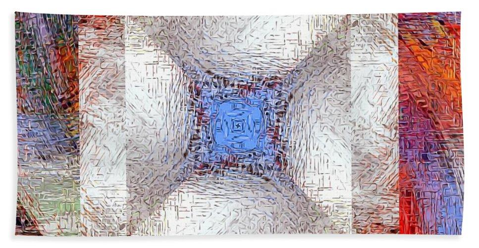 Wheels Beach Towel featuring the digital art Mosaic 114-02-13 Marucii by Marek Lutek
