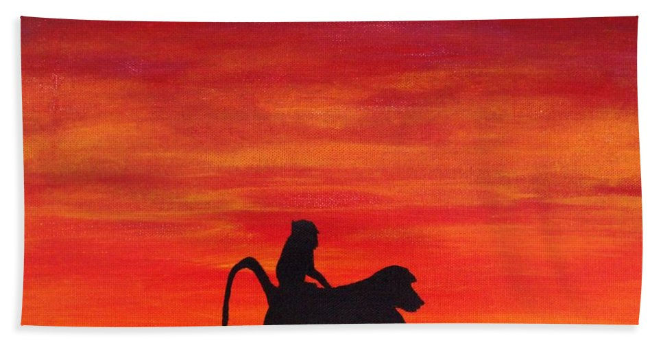 Africa Beach Towel featuring the painting Mother Africa 4 by Michael Cross
