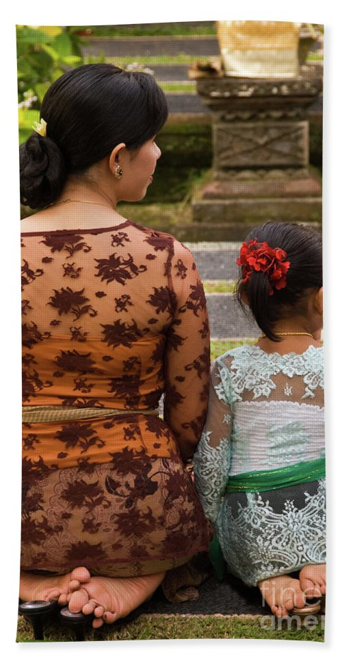 Indonesia Beach Towel featuring the photograph Mother And Daughter by Rick Piper Photography