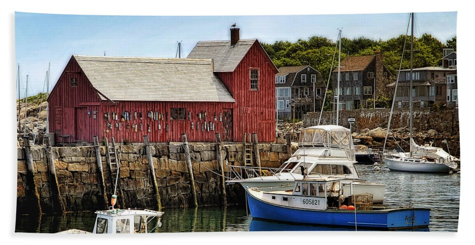 Rockport Beach Towel featuring the photograph Motif 1 by Claudia Kuhn