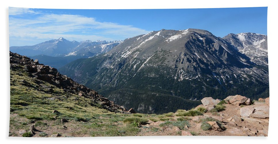 Rocky Beach Towel featuring the photograph Mountain Beauty by Colleen Coccia