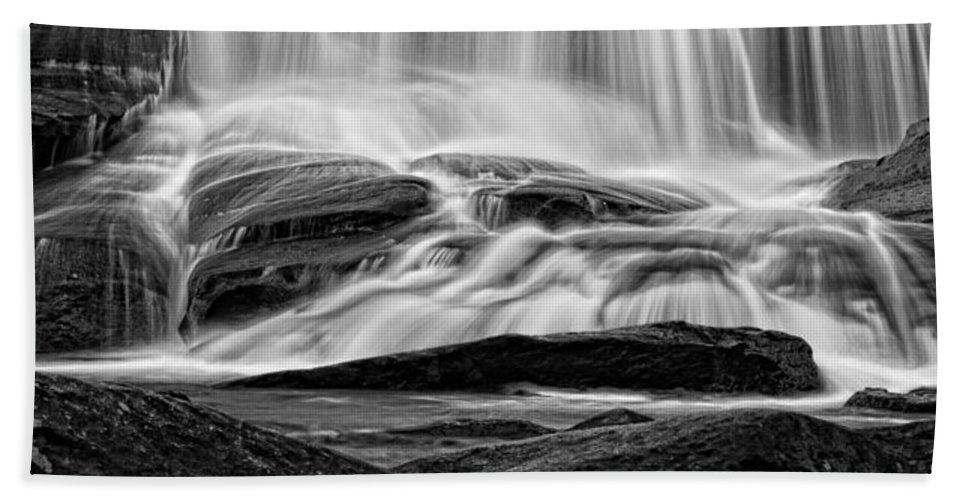 Waterfall Beach Towel featuring the photograph Mountain Flow by Chris Austin