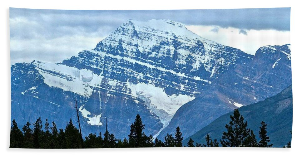 Mountain Beach Towel featuring the photograph Mountain Meets The Sky by Leanne Matson