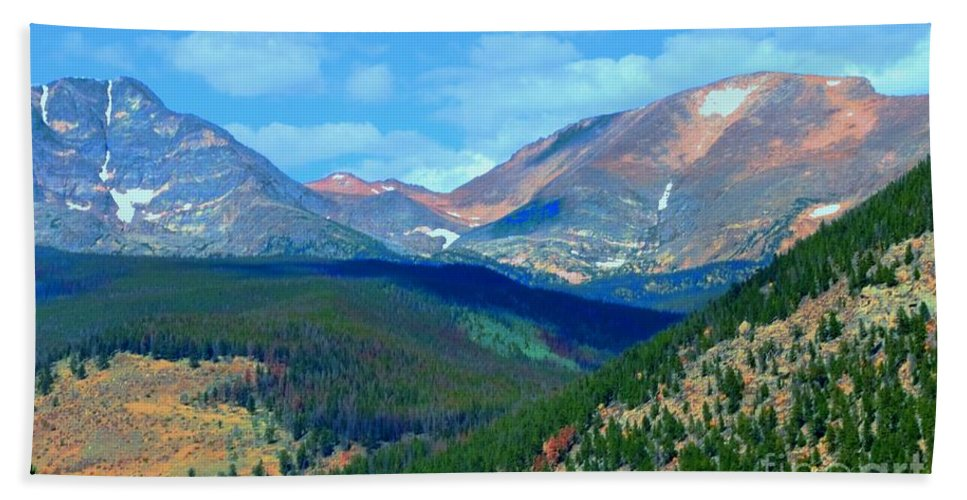Rocky Beach Towel featuring the photograph Mountain Top Color by Kathleen Struckle