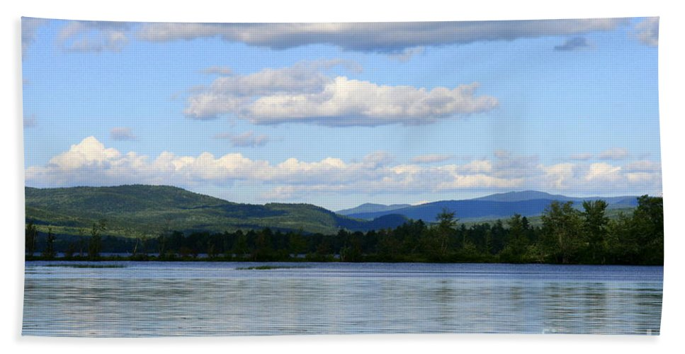 Landscape Beach Towel featuring the photograph Mountain View by Neal Eslinger