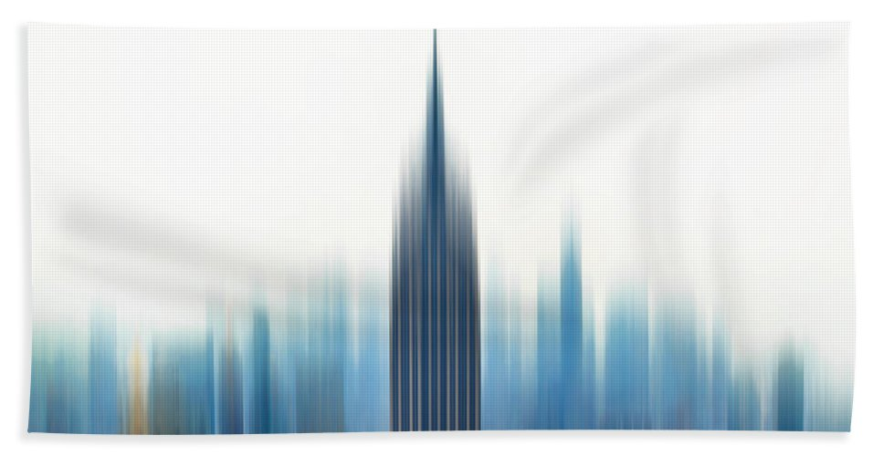 New York City Beach Towel featuring the photograph Moving An Empire by Az Jackson