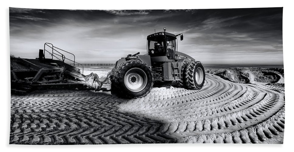 Dredge Beach Towel featuring the photograph Moving Heaven And Earth by Wayne Sherriff