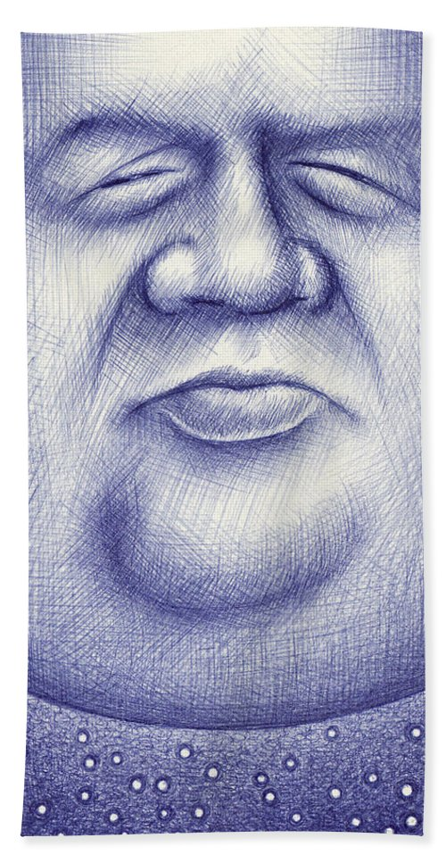 Moon Beach Towel featuring the drawing Mr. Moon by Cristophers Dream Artistry
