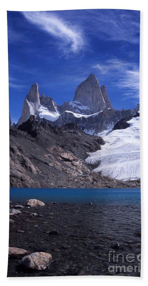 Fitzroy Beach Towel featuring the photograph Mt Fitzroy And Laguna De Los Tres by James Brunker
