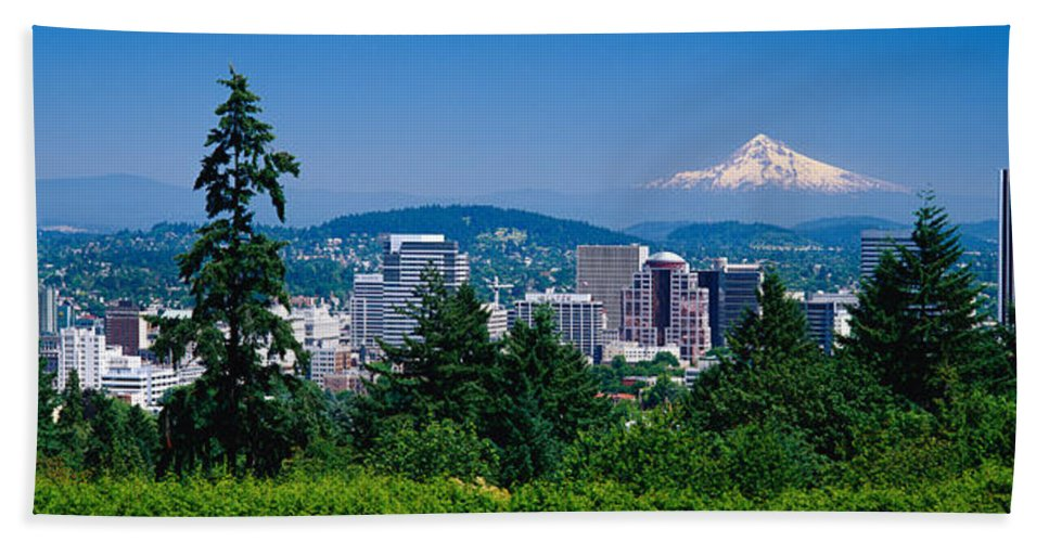Photography Beach Towel featuring the photograph Mt Hood Portland Oregon Usa by Panoramic Images