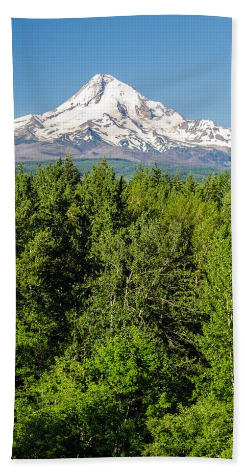 Mountain Beach Towel featuring the photograph Mt. Hood Vertical by Jess Kraft