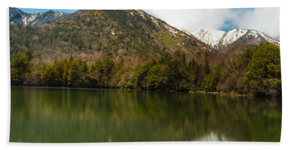 Japan Beach Towel featuring the photograph Mt. Mitsudake by Jonah Anderson