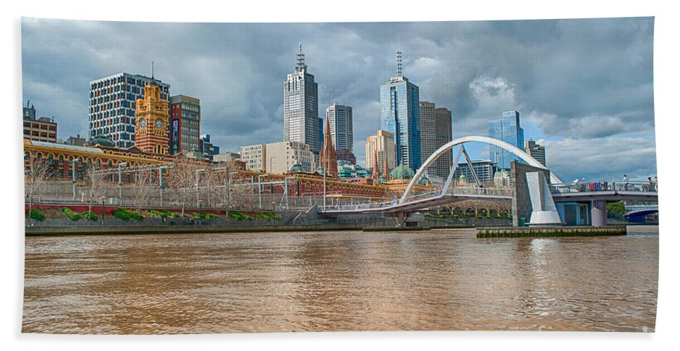 Melbourne Beach Towel featuring the photograph Muddy River by Ray Warren