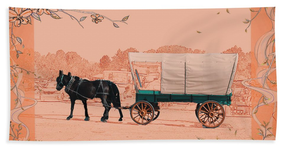 Mule Beach Towel featuring the photograph Mule Days - Westmoreland Tn 9-28-13 2 by Ericamaxine Price