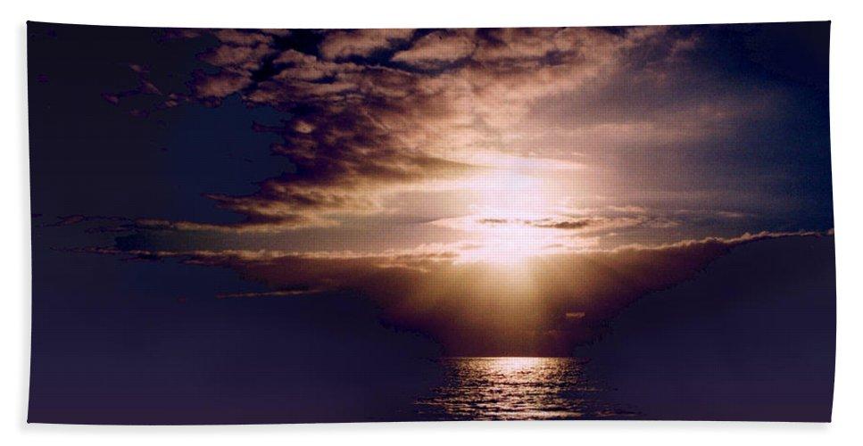 Seascape Beach Towel featuring the photograph Mushroom by Steve Karol