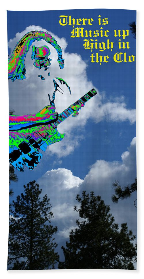 Jerry Garcia Beach Towel featuring the photograph Music Up In The Clouds by Ben Upham