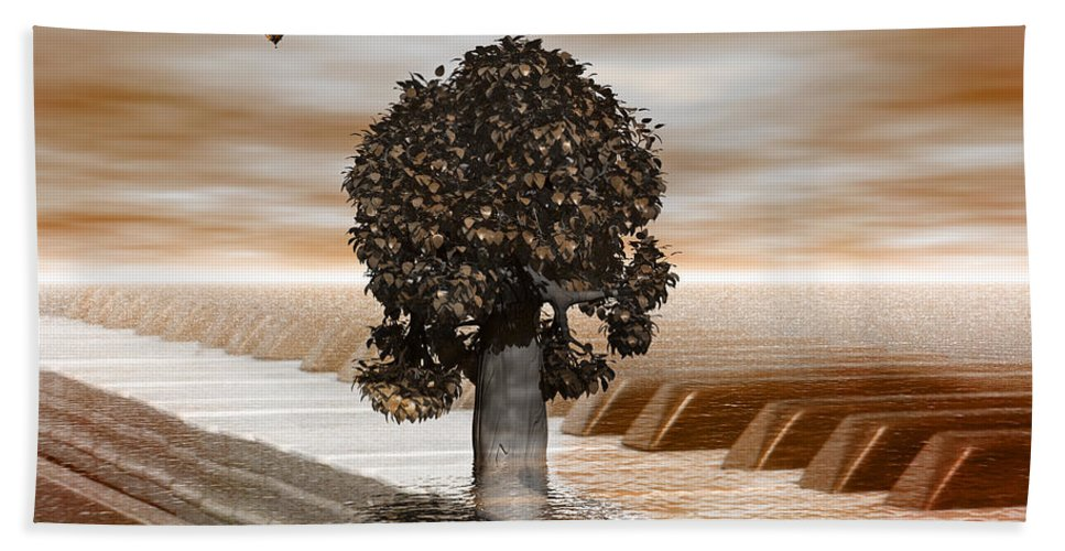 Tree Beach Towel featuring the digital art Musicians by Betsy Knapp