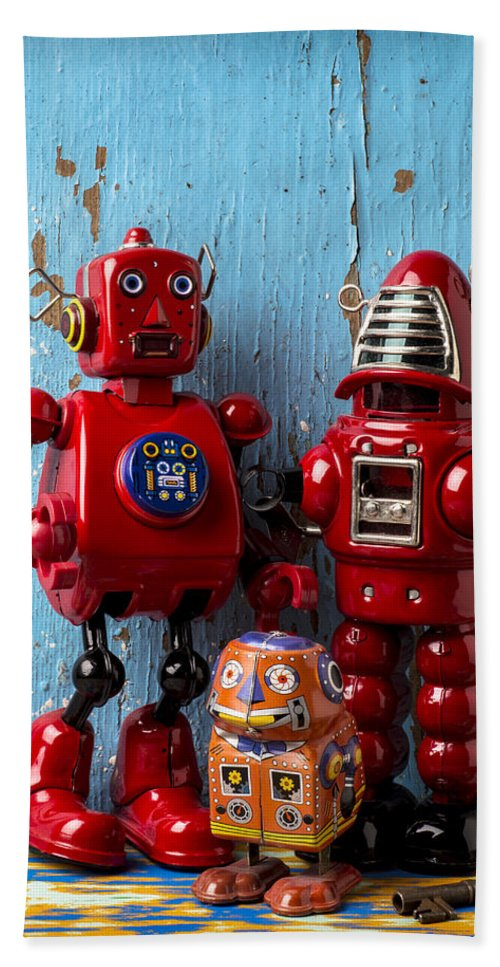 Robots Beach Towel featuring the photograph My Bots by Garry Gay