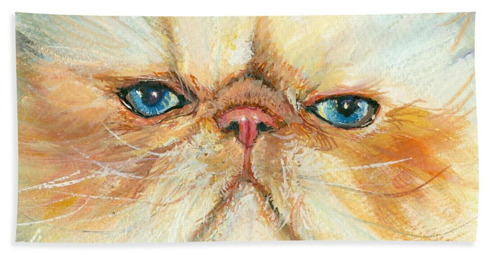 Nature Beach Towel featuring the painting My Happy Face by Donna Tucker