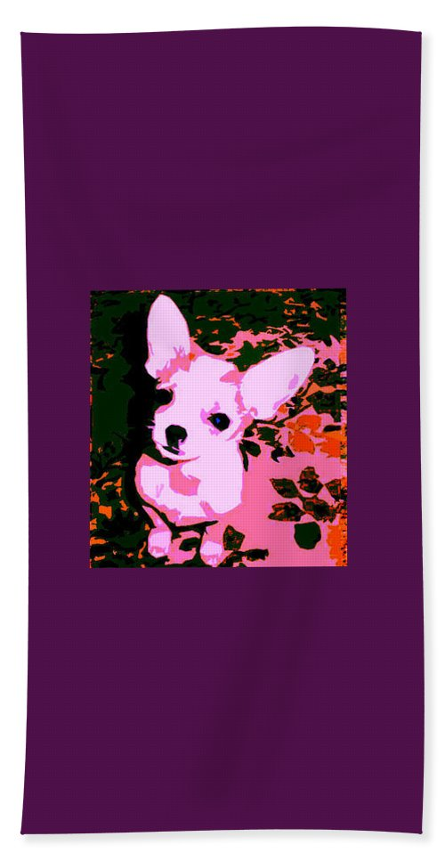 Chihuahua Beach Towel featuring the photograph My Heart Belongs To Chachi by Leah Delano