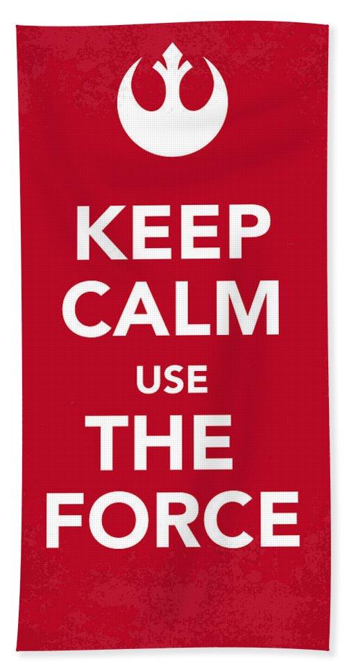 Star Beach Towel featuring the digital art My Keep Calm Star Wars - Rebel Alliance-poster by Chungkong Art