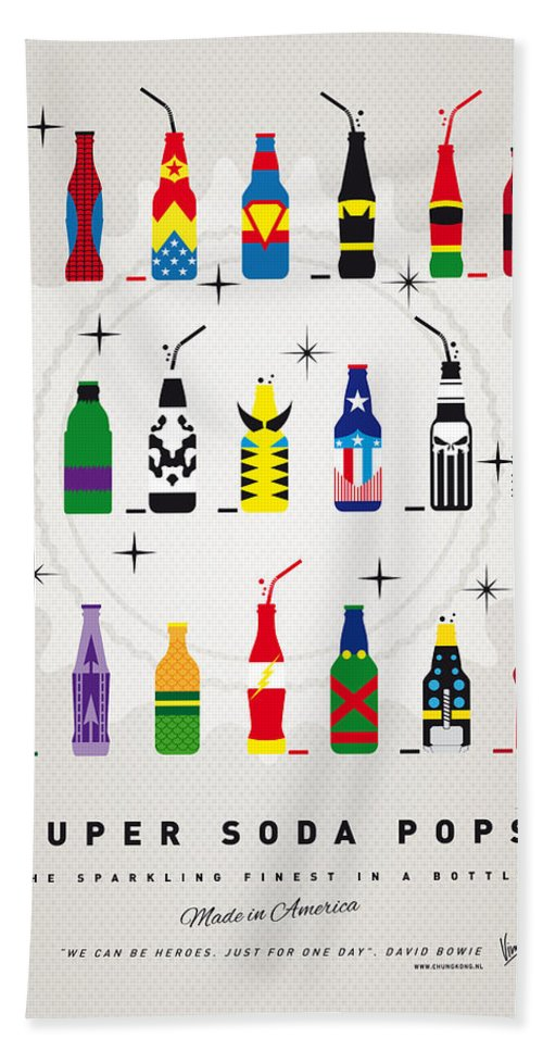 Icepops Beach Towel featuring the digital art My SUPER SODA POPS No-00 by Chungkong Art