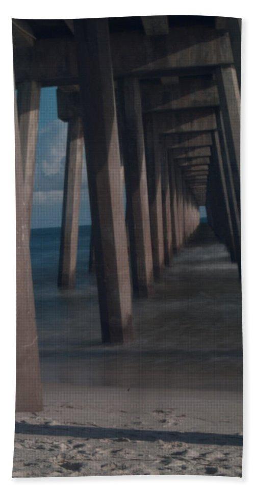Pier Beach Towel featuring the photograph Myst Under The Pier by Jon Cody
