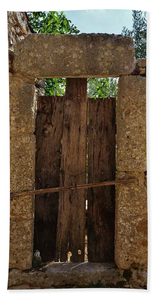 Door Beach Towel featuring the photograph Mysterious Door by Dany Lison