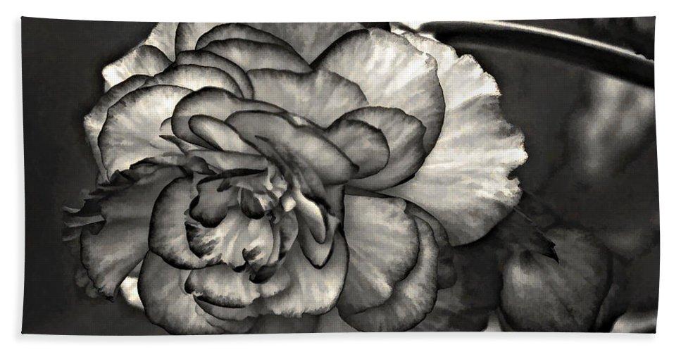 Begonia Beach Towel featuring the photograph Mystery Girl by Steve Harrington