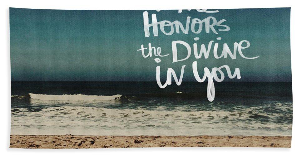 Namaste Beach Towel featuring the photograph Namaste Waves by Linda Woods