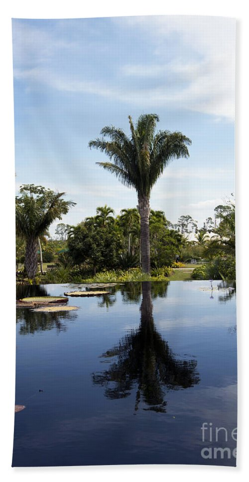 Landscape Beach Towel featuring the photograph Naples Botanical Garden 3083 by Terri Winkler