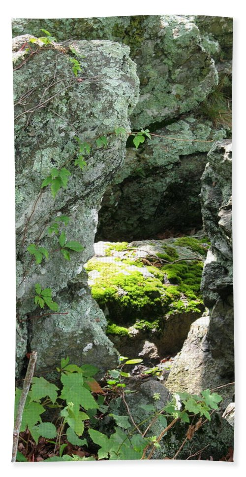 Stone Beach Towel featuring the photograph Natures Peephole by Christiane Schulze Art And Photography