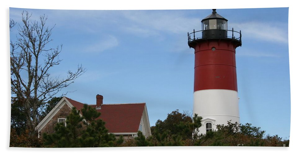 Lighthouse Beach Towel featuring the photograph Nauset Beach Light by Christiane Schulze Art And Photography