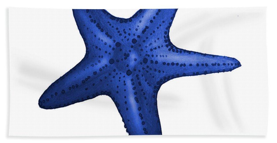 Nautical Beach Towel featuring the digital art Nautical Blue Starfish by Michelle Eshleman