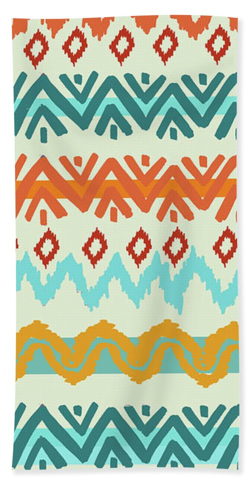 Navajo Missoni I Beach Towel