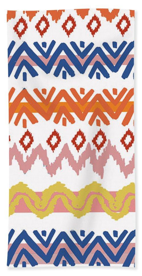 Navajo Beach Towel featuring the digital art Navajo Missoni IIi by Nicholas Biscardi