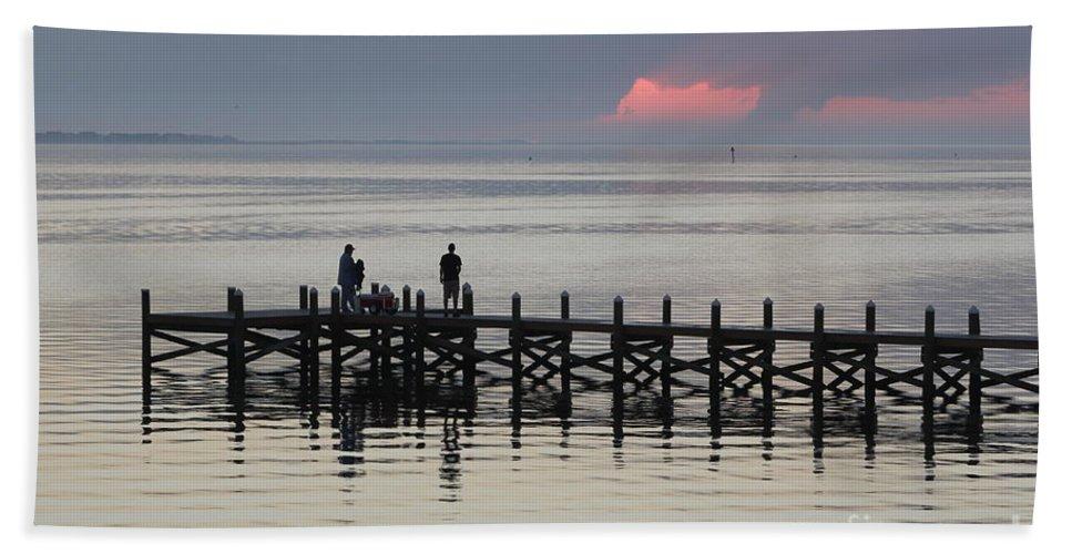 Navarre Beach Pier Beach Towel featuring the photograph Navarre Beach Sunset Pier 18 by Michelle Powell