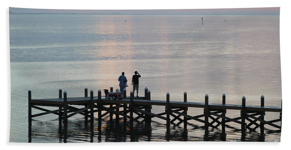 Navarre Beach Pier Beach Towel featuring the photograph Navarre Beach Sunset Pier 35 by Michelle Powell